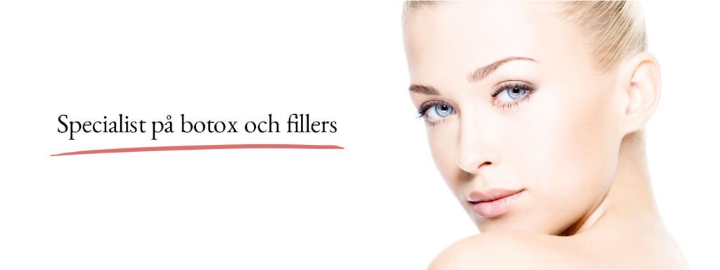 Specialist på botox och fillers
